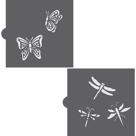 Butterflies and Dragonflies Accent Cookie Stencil