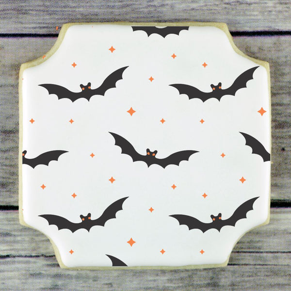 Bats 2 Overlay Background Cookie Stencil