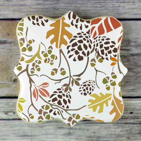 Autumn Bramble 3 Overlay Background Cookie Stencil