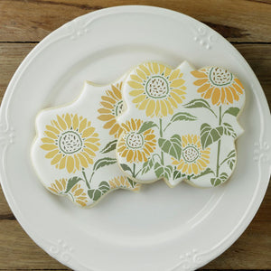 Farm Fresh Sunflowers 2 Overlay Background Cookie Stencil