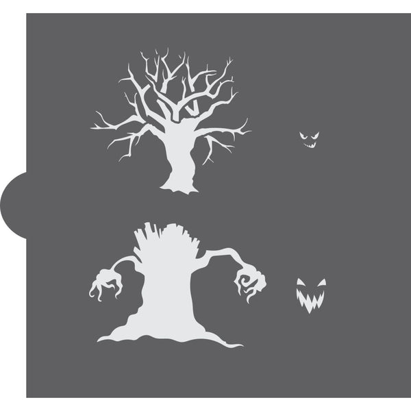 Spooky Trees Cookie Stencil