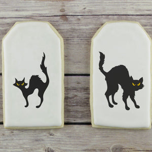 Black Cats Cookie Stencil