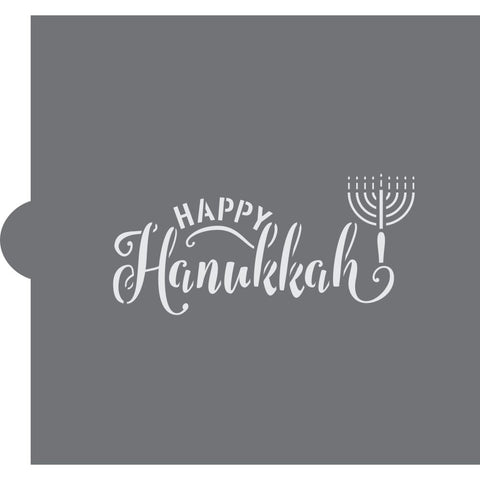 Happy Hanukkah Message Stencil