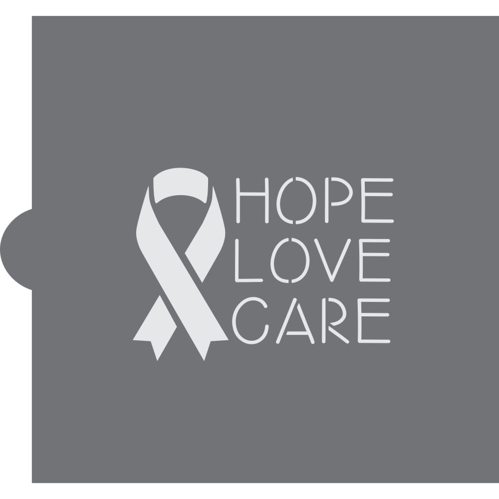 Hope Love Care Cookie Stencil
