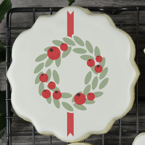 Laurel Wreath with Ribbon Cookie Stencil