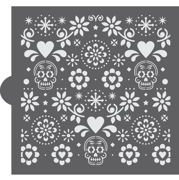 Day of the Dead Background Cookie Stencil