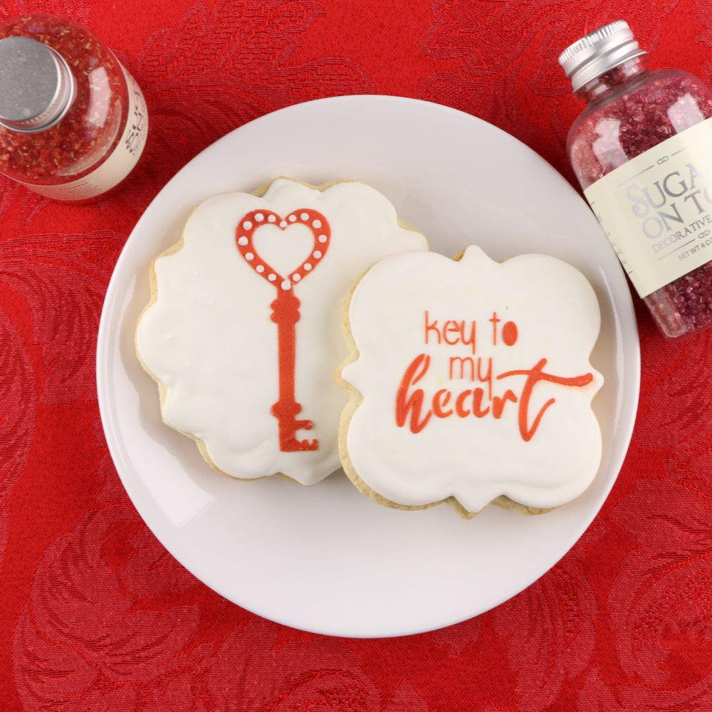 Key to My Heart Cookie Stencil