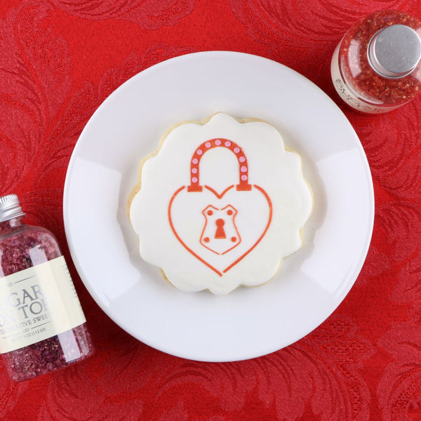 Heart Shaped Lock Cookie Stencil