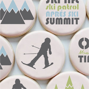 On Mountain Time 3 Piece Cookie Stencil Set