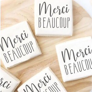 Merci Beaucoup Cookie Stencils