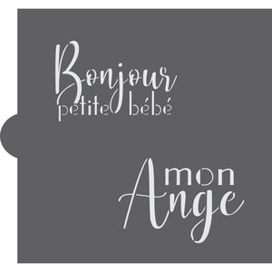 French Baby Shower Cookie Stencils