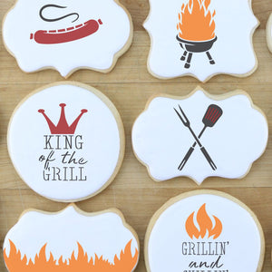 King of the Grill 3 Piece Cookie Stencil Set