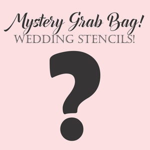 3 Piece Wedding Round Cookie Stencil Grab Bag