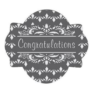 Congratulations Prettier Plaques Cookie Stencil Set by Julia Usher