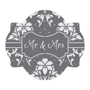 Mr and Mrs Prettier Plaques™ 5-Piece Cookie Stencil Set by Julia Usher