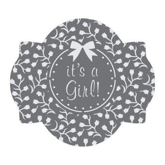 It's a Girl 1 Prettier Plaques™ 5-Piece Cookie Stencil Set by Julia Usher