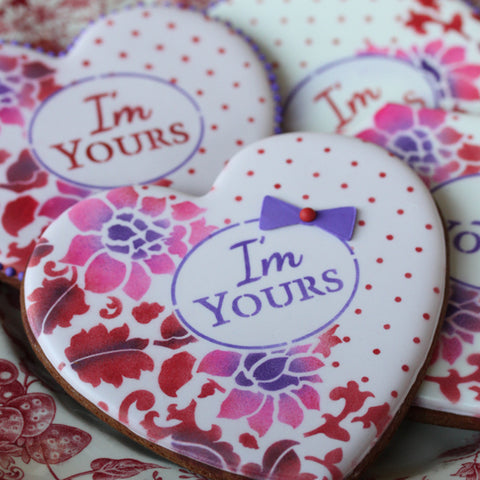 I'm Yours Prettier Plaques 5-Piece Cookie Stencil Set by Julia Usher