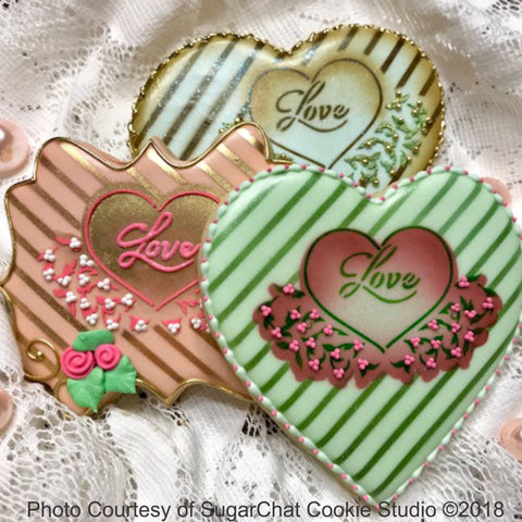 Love 1 Prettier Plaques™ 5-Piece Cookie Stencil Set by Julia Usher