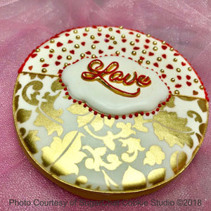 Love 2 Prettier Plaques Cookie Stencil 5 Pc Set