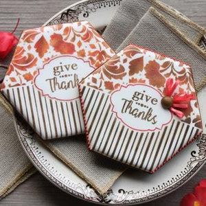 Give Thanks Prettier Plaques Cookie Stencil 5 Pc Set
