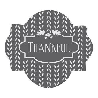 Thankful Prettier Plaques Cookie Stencil 5 Pc Set