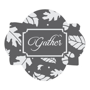 Gather Prettier Plaques 5-Piece Cookie Stencil Set by Julia Usher