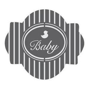Baby 1 Prettier Plaques 5-Piece Cookie Stencil Set by Julia Usher