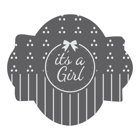 It's A Girl 2 Prettier Plaques Cookie Stencil 5 Pc Set