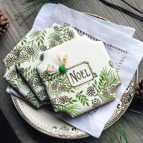 Noel Prettier Plaques™ 5-Piece Cookie Stencil Set by Julia Usher