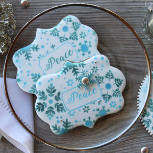 Peace Prettier Plaques 5-Piece Cookie Stencil Set by Julia Usher