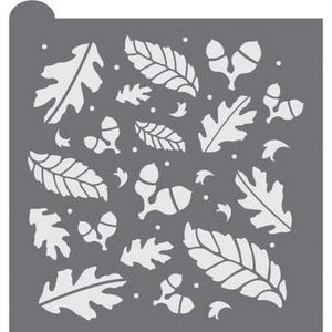 Gather Prettier Plaques Background Cookie Stencil