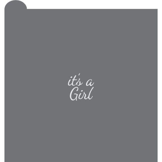 It's A Girl 2 Prettier Plaques Message Cookie Stencil