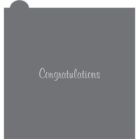 Congratulations Prettier Plaques Message Cookie Stencil by Julia Usher
