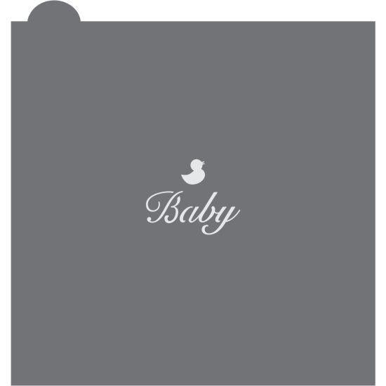 Baby 1 Prettier Plaques Message Cookie Stencil by Julia Usher