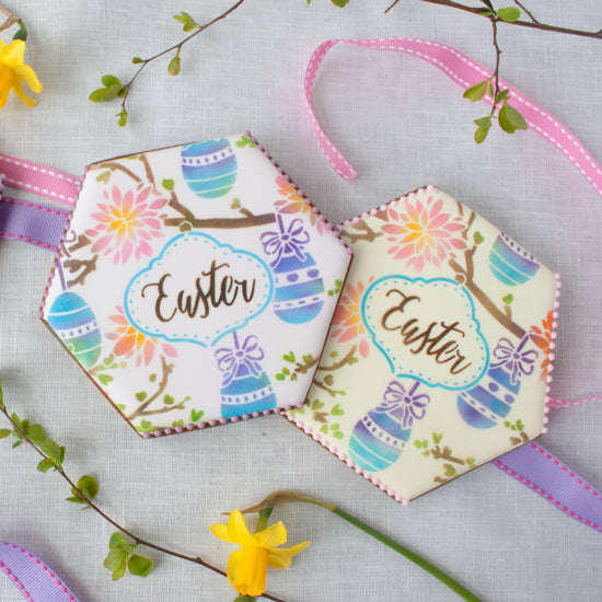 Easter Whimsy Prettier Plaques 5-Piece Cookie Stencil Set by Julia Usher