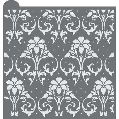 Victorian Trellis Prettier Plaques Background Cookie Stencil