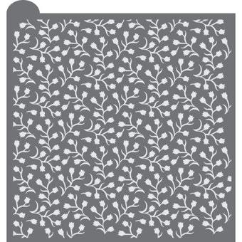 Baby's Breath Prettier Plaques Background Cookie Stencil