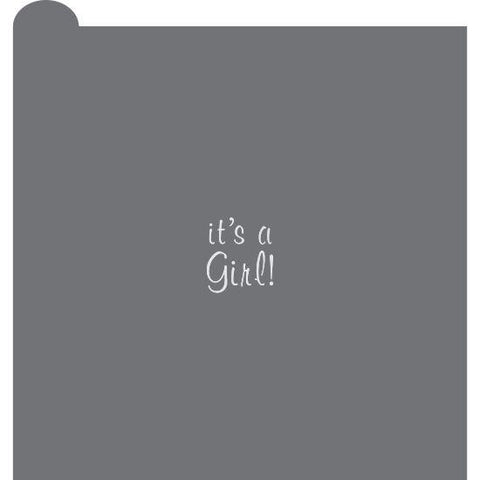 It's A Girl Prettier Plaques™ Message Cookie Stencil by Julia Usher