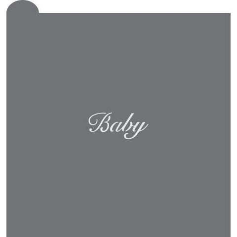 Baby 2 Prettier Plaques Message Cookie Stencil by Julia Usher