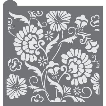 Bold Floral Prettier Plaques Background by Julia Usher