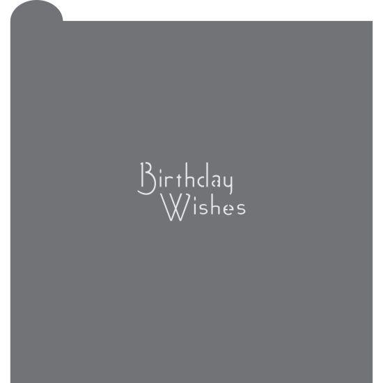 Birthday Wishes Prettier Plaques Message Cookie Stencil by Julia Usher