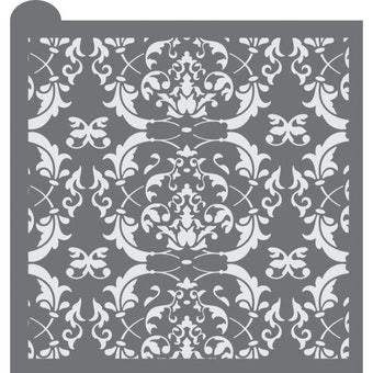 Victorian Scroll Prettier Plaques Background Cookie Stencil