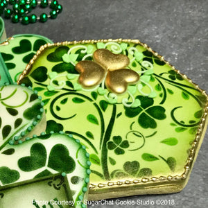 Clover Vine Prettier Plaques Background Cookie Stencil