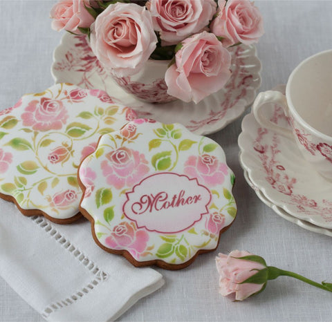 Mother Wishes Prettier Plaques™ 5-Piece Cookie Stencil Set by Julia Usher