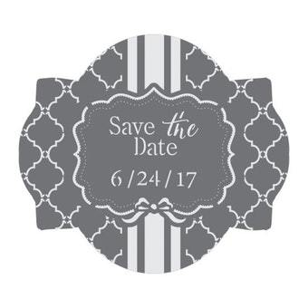 Save the Date Prettier Plaques 3-Piece Cookie Stencil Set by Julia Usher