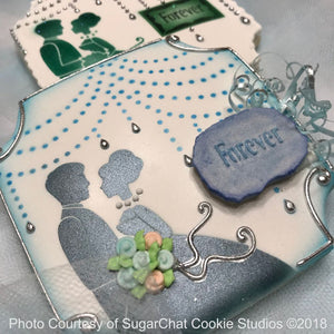 Forever Prettier Plaques 5-Piece Cookie Stencil Set by Julia Usher