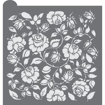 Rosebud Trellis Prettier Plaques™ Background by Julia Usher
