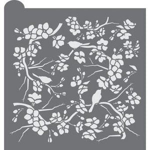 Birds and Blossoms Prettier Plaques Background by Julia Usher
