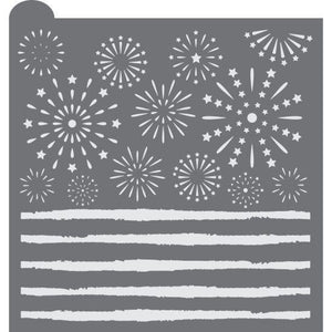 Fireworks Prettier Plaques™ Background by Julia Usher