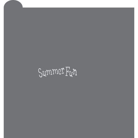 Summer Fun Prettier Plaques Message Cookie Stencil by Julia Usher